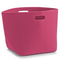 Panier rangement rose design en feutre zeller 14333