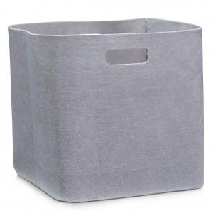 Corbeille rangement design feutre taupe zeller 14335
