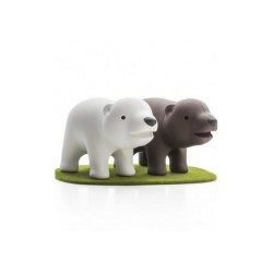 Saliere poivriere qualy freres ours QL10202BW