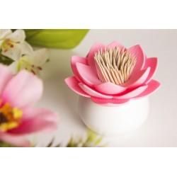 Porte cure-dents fleur de lotus rose qualy