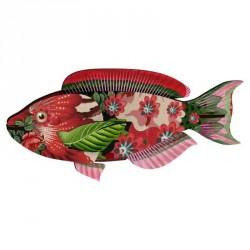 Trophée poisson décoration murale bois Miho Abracadabra