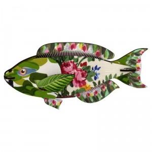 Décoration murale trophée poisson miho seaweed joke