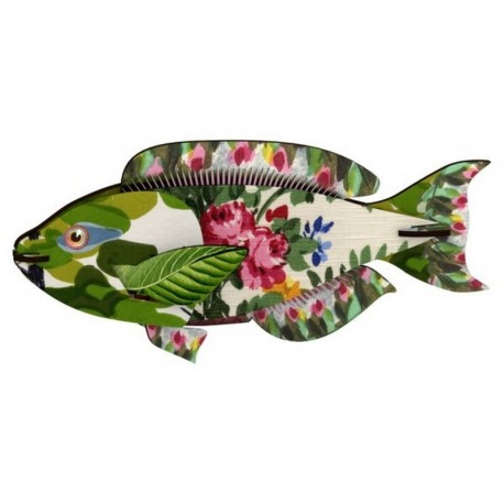 Decoration murale trophee poisson miho seaweed joke