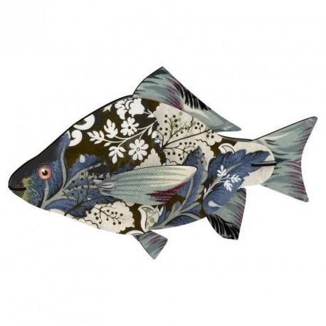 Trophee mural poisson miho carpe diem FISHL194