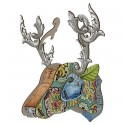 Decoration murale trophee cerf miho prodigy MINI150