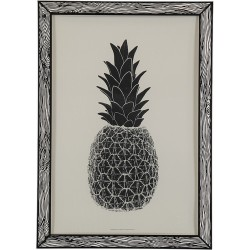 Affiche ananas The prints by Marke Newton noir