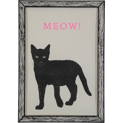 The prints by Marke Newton Black Cat  Meow
