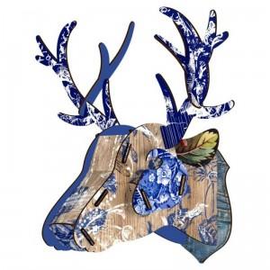 Tête de cerf décorative fleurie miho prince charming
