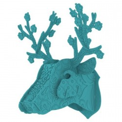 Miho Deer Head Wall Decor turquoise