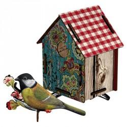 Nichoir pour oiseaux decoratif miho serenade CASAM32
