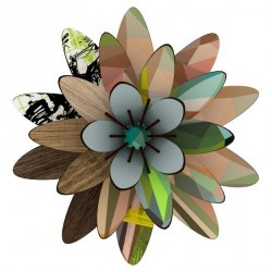 Miho Wall Flower Decoration Wood Northern Star