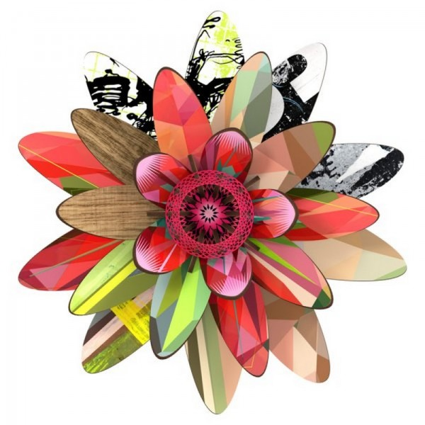 miho fleur decorative murale marte flower245. Black Bedroom Furniture Sets. Home Design Ideas