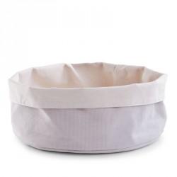 Corbeille ronde en tissu beige gris Zeller D 25 cm