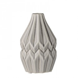 Bloomingville Vase Wide Flute light grey