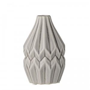 Bloomingville vase wide flute gris clair