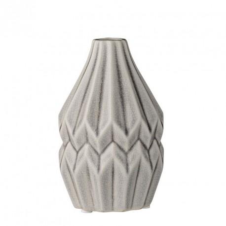 Bloomingville 27120035 vase wide flute gris clair