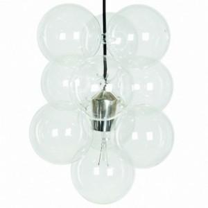 Lampe suspension diy house doctor 12 boules en verre