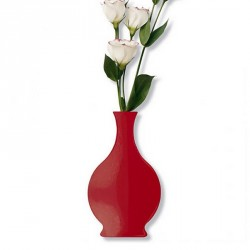 Cedon Wall Vase Metal Red
