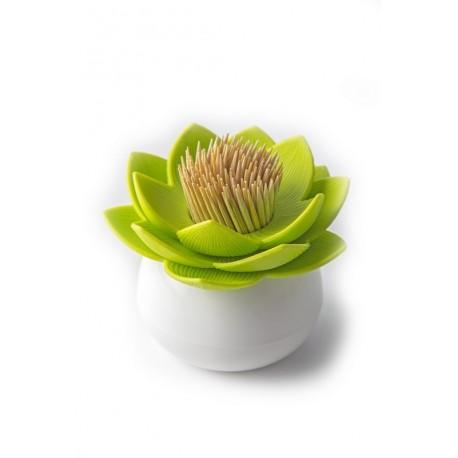 Porte cure-dents lotus vert qualy