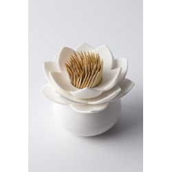 Qualy lotus porte cure dents blanc QL10156WH