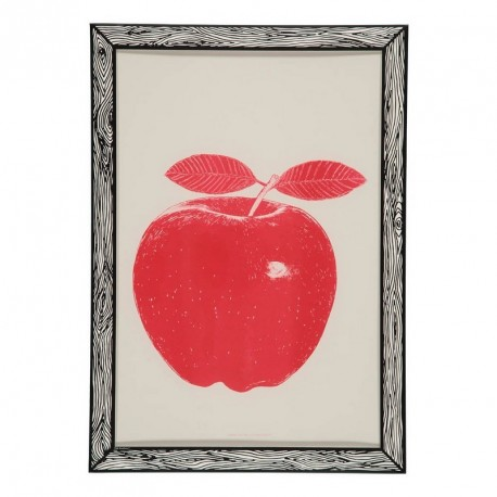 poster pomme rouge red apple the prints by marke newton. Black Bedroom Furniture Sets. Home Design Ideas