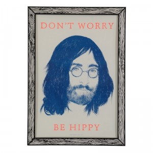 The prints by Marke Newton Don't Worry Be Hippy