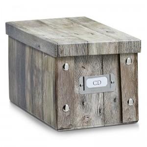 zeller 17865 cd box wood boite a cd en carton