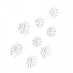 umbra 472012-660 delica fleurs murales blanches en relief