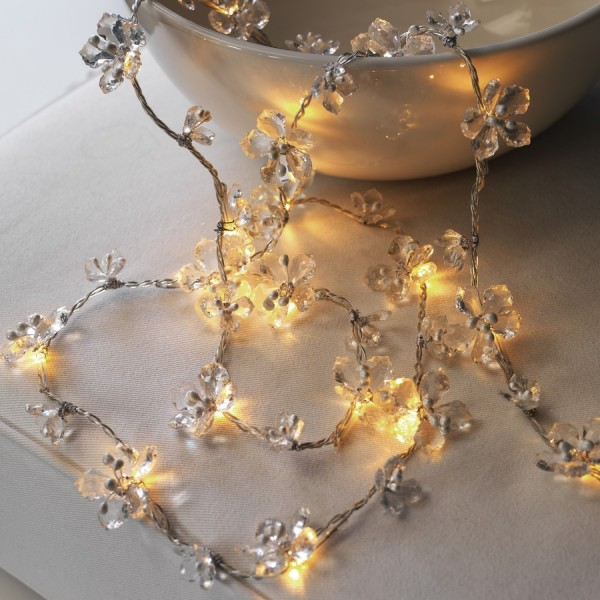 Guirlande lumineuse led fleurs transparentes sirius 29350 - Guirlande lumineuse maison du monde ...
