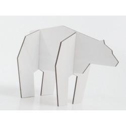 statue ours blanc en bois nordic puzzle atelier pierre