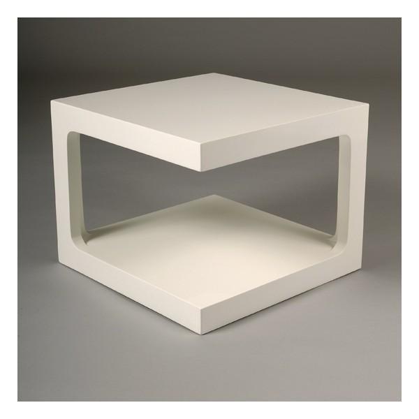 Table basse carr e blanche karre kdesign - Table blanche design ...