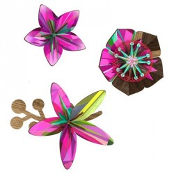 Miho Ultraviolet Wall Flower Decor