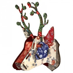 Miho Deer Head Bunches Wall Decor