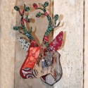 miho bunches tete de cerf decoration murale