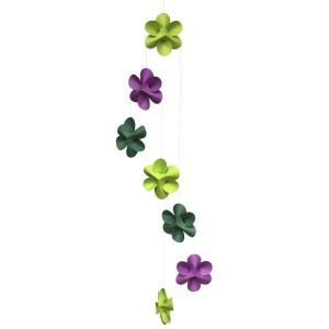 Mobile décoratif fleurs à suspendre au plafond livingly flower mobile