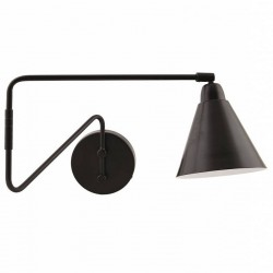 House Doctor Game Retro Swing Arm Wall Light black metal