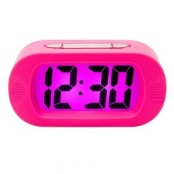 Present time gummy alarm clock pink