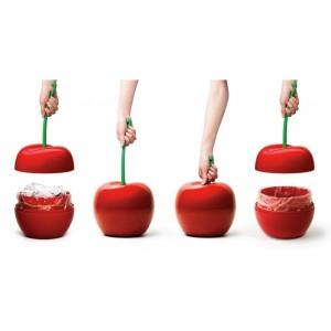 poubelle cerise rouge qualy cherry QL10128RD