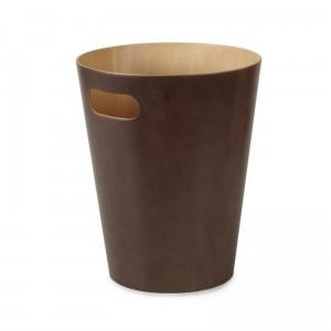 corbeille a papier en bois marron umbra woodrow 082780-213
