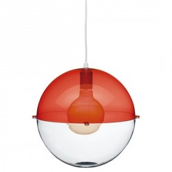 Luminaire suspension rouge design koziol orion