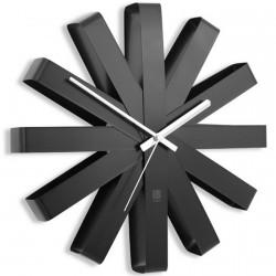 Umbra 118070-040 Ribbon Reloj de pared, acero negro