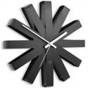 Horloge murale design acier noir umbra ribbon
