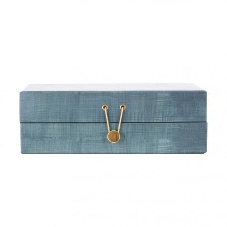 House doctor boite a bijoux carton compartiments four seasons vert d eau
