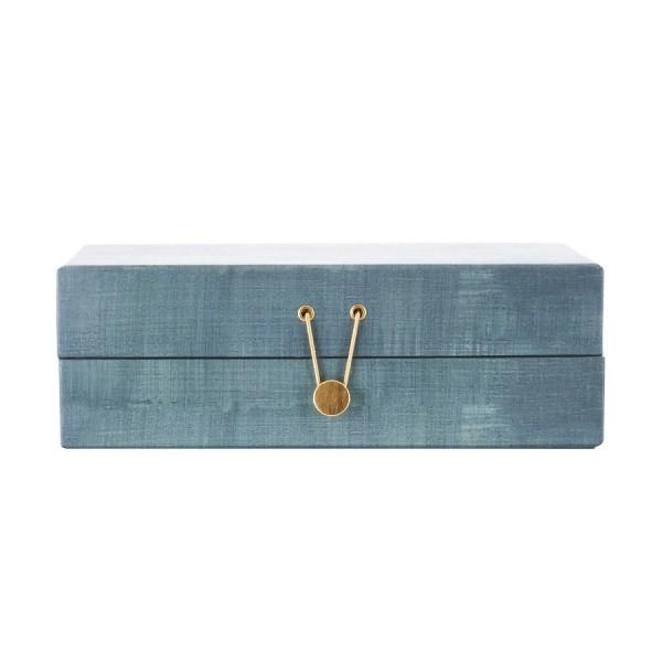 house doctor boite a bijoux carton compartiments four seasons vert d eau kdesign. Black Bedroom Furniture Sets. Home Design Ideas