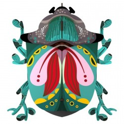 Miho Wall Decor Beetle Paul wood