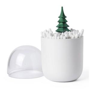 qualy boite a coton tiges arbre QL10221GN winter cotton tree