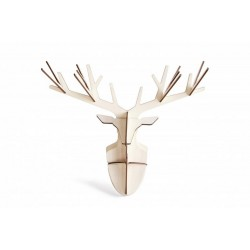 Studio Roof Wooden Totem Enchanted Deer Cabeza de Ciervo decorativa
