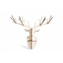 Tête de cerf décorative murale en bois wooden totem enchanted deer