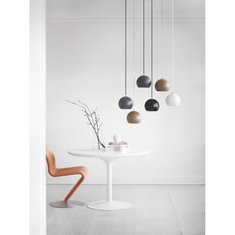 Poubelle De Cuisine Originale : Frandsen ball suspension design métal blanc mat