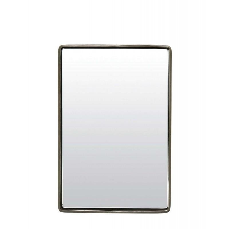house doctor miroir metal noir mat reflection 30 x 20 x 4 cm. Black Bedroom Furniture Sets. Home Design Ideas